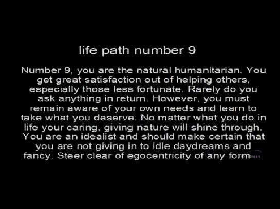 numerology 9 life path